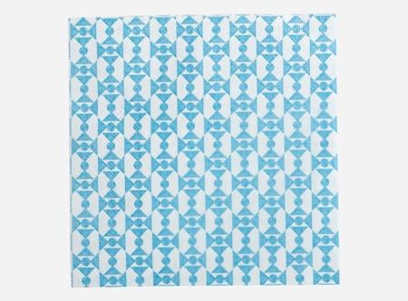 Servett Blue Bow 33x33 cm 20 st
