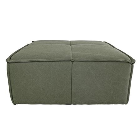 Kub Soffa Canvas Militärgrön Hocker