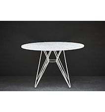 Mesa bord Ø120 – Vit marmor