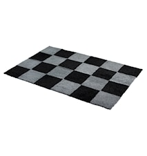 Chess Rutig fårskinnsmatta 120x180 - Anthracite/Black
