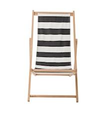 Deks stol - Svart/vitrandig