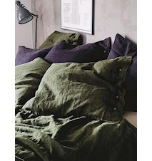 Lovely linen pudebetræk – Jeep green