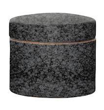 Noir Beholder med låg Sort Stentøj 11,5x10cm