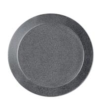 Teema tallrik 17 cm melerad grå