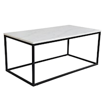 Accent soffbord rektangulärt, 110x60, ljus marmor/svat lack