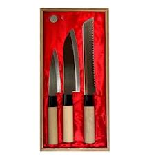 Knivsett i Balsabox 3 deler