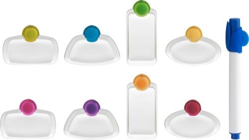 Glass tags- Glasmarkörer 8 st med penna