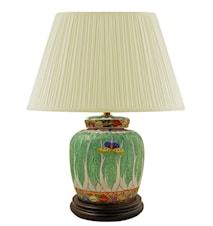 Lampfot, 22,5 cm, kålblad med fjäril