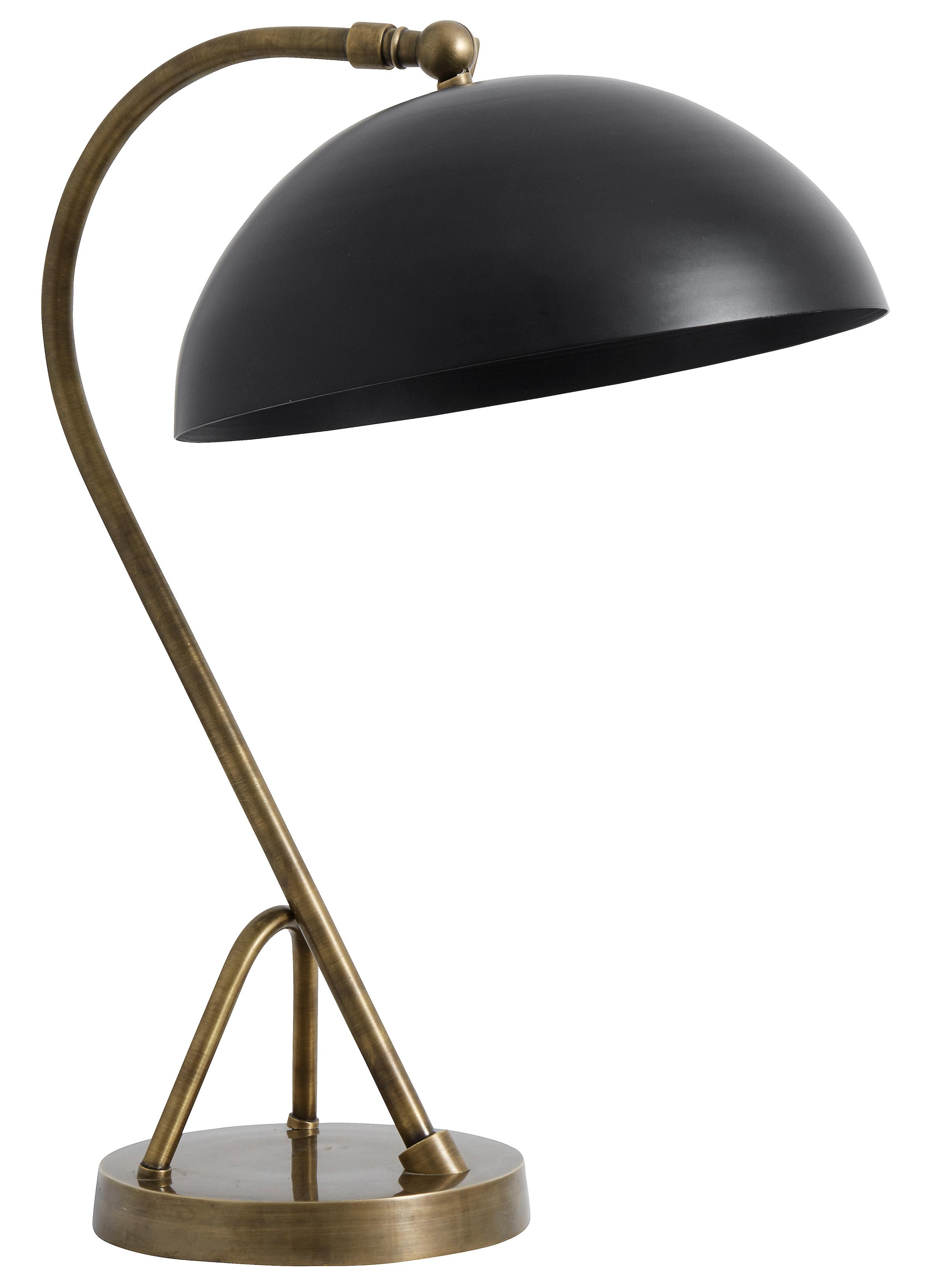 Library bordslampa - svart/mässing