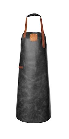 Forklæde Læder Sort/Cognac