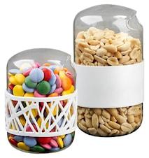 Snacksbehållare med silikonband