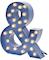 Cirkuslampan Stor - & - Blå
