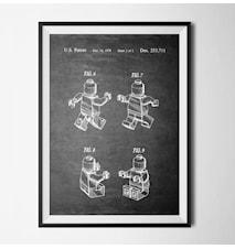 Patent lego black poster