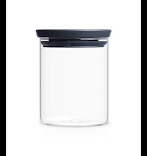 Glasburk Stapelbar 0.6 Ltr Glas/Grått Lock