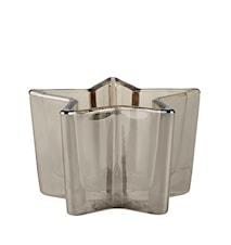Värmeljushållare Glas Rök 6x11x11 cm