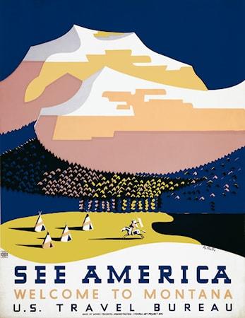 Bild av Print Collection See Amerika Halls poster