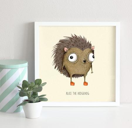Alice the hedgehog poster