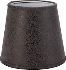 Queen Lampskärm Läder Gråsvart 10cm