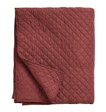 Sängöverkast ruter 220x270cm - Röd