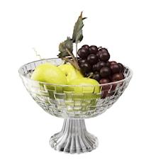 Fruktskål glas på fot diameter 23 cm