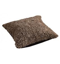 Ace Large Kudde fårskinn/ulltyg 50x50 - Sahara/Black