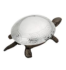 Ringklocka Svart Sköldpadda med kromat skal
