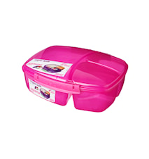 Lunch 2016 2L Triple Split Lunch Box with Yogurt Pot Coloured