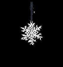 Snöflingor, 6 cm, försilvrad