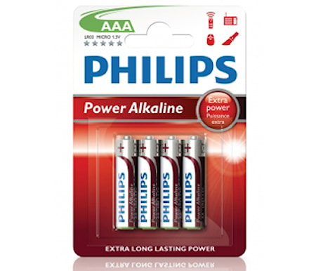 Philips Power Alkaline AAA 4-pack