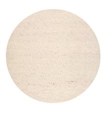 Merino rund matta - White