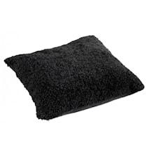 Ace Large Pude fåreskind/uld 50x50 - Black/Black