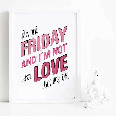 Bild av Tove Lisa Its not Friday poster