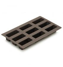 Minibrødform, 9 stk brun