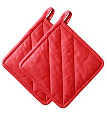 Grytlapp Röd 20x20 cm