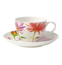 Anmut Flowers Kaffekopp&Fat 2 delar