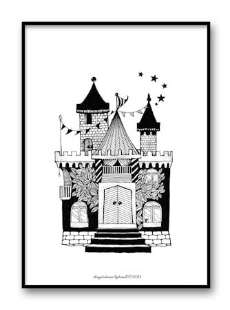 Drömhus svart poster – 30x40