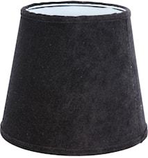Mia L Lampskärm Sammet Svart 24 cm