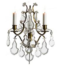 Pompe barocklampet 2 nikkel blad