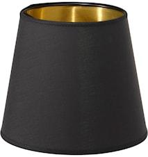 Mia L Lampskärm Svart/Guld 17 cm