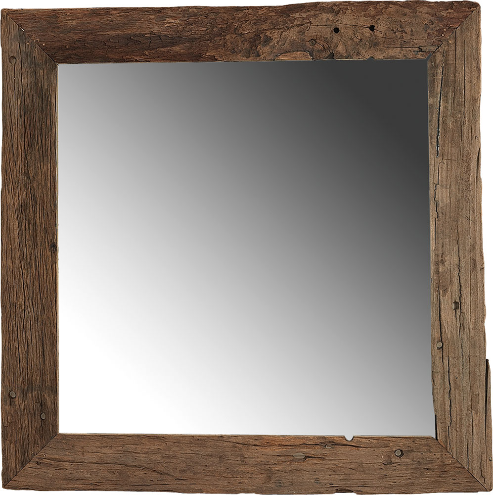 Driftwood spegel 125x125