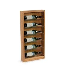 6 Flaskors Vinställ för vägg Mörk Ek