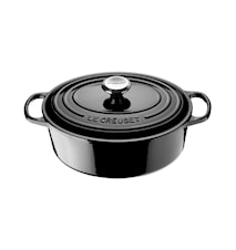 Oval Gryta 27cm 4,1L Black