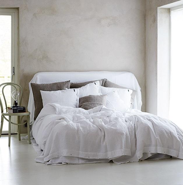 Lovely linen malibu extra thin örngott – Optical white
