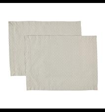 Dækkeserviet Topas 2-pack 45x35 cm - Vintageblå