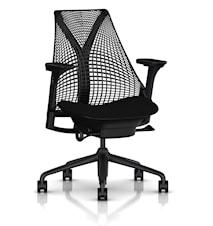 Sayl kontorsstol - Klädd sits / nätrygg