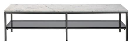 Bild av RGE Ascot mediabänk – Ljus marmor, grå lack