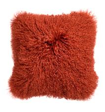 Kuddfodral Lammskinn 40x40 cm - Orange