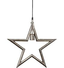 Metalstjerne Råsølv 35cm
