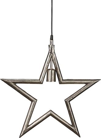Metallstjärna Råsilver 35cm