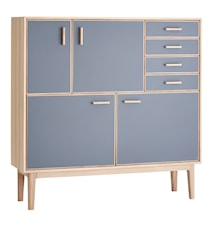 CASØ 700 highboard skåp – Grå/ek